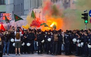 Nächste Demo eskaliert: Wieder Polizist verletzt