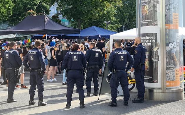 Demo Favoriten Polizei
