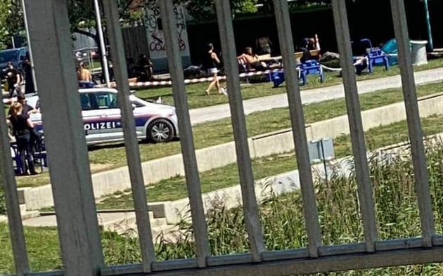 Bade-Unfall Alte Donau Frau beatmet im Spital