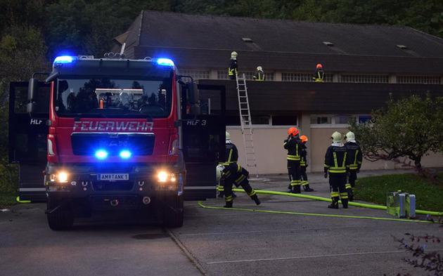 Brand in ehemaliger Sporthauptschule