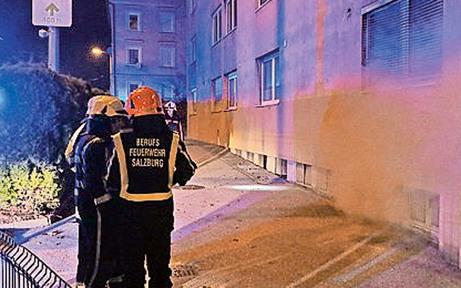 Brandserie in Salzburger Wohnblock