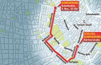 Demo gegen blaue Burschenschafter legt City lahm