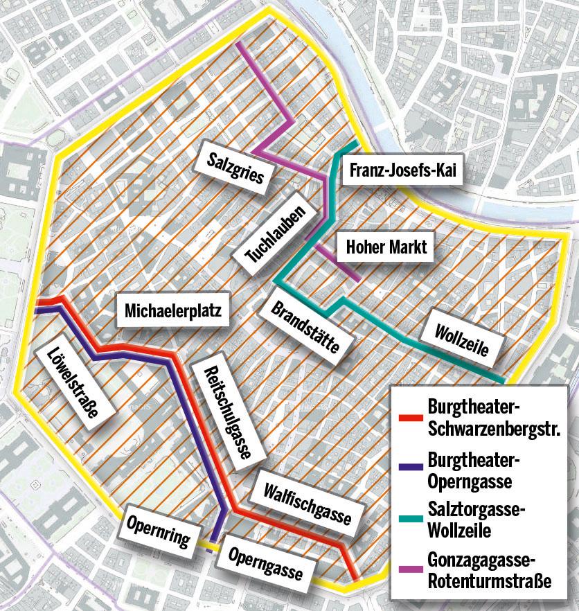 Autofreie WIener Innenstadt Wiener City