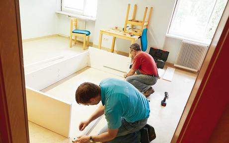 Ikea spendete Betten für Flüchtlingshaus