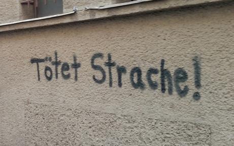 "FPÖ-Anzeige nach dem ""Mordaufruf-Graffiti"""