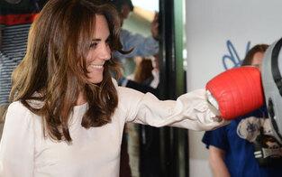 Herzogin Kate kann auch zuschlagen