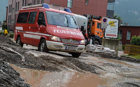 Starkregen sorgte für Feuerwehreinsätze in Niederösterreich