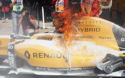 Formel-1-Pilot entkommt Feuer-Hölle
