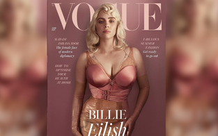 Billie Eilish im Latex-Look