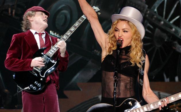 Madonna, AC/DC