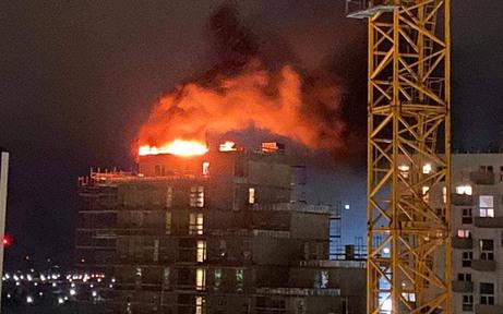 Schweißarbeiten schuld am Seestadt-Brand