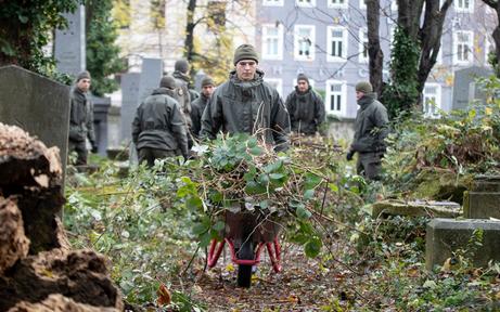 Bundesheer-Einsatz am jüdischen Friedhof Wien-Währing
