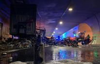 Lkw-Anhänger im Tauerntunnel in Brand geraten