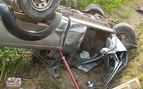 Pick-up überschlug sich - Drei Verletzte