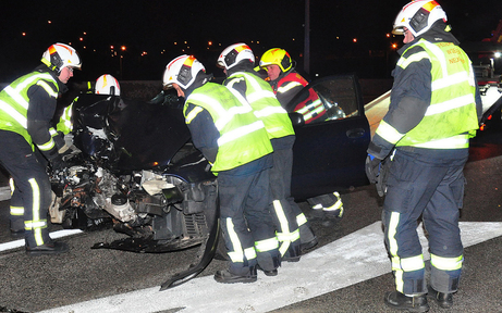 Frontal-Crash auf der A2