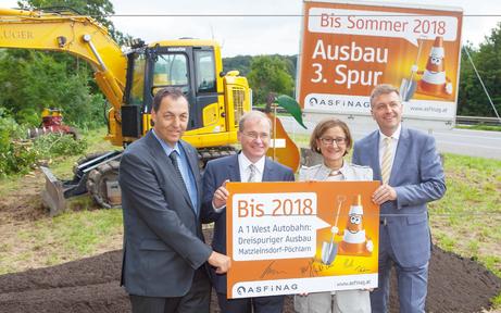 Baustart für dritte Spur auf A1