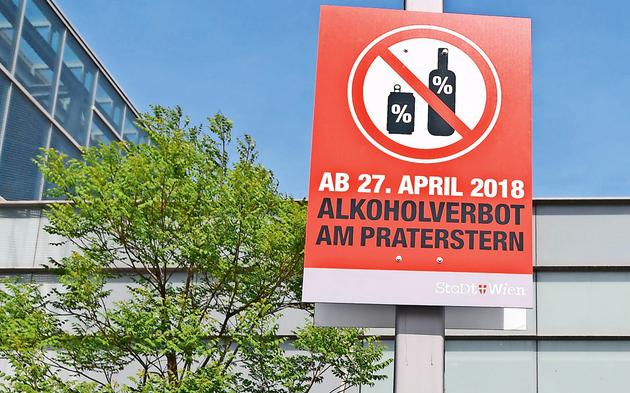 Alkoholverbot Praterstern