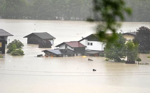 Hochwasser Kössen