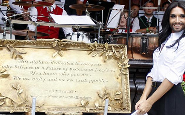Conchita Wurst in Gemeinde geehrt