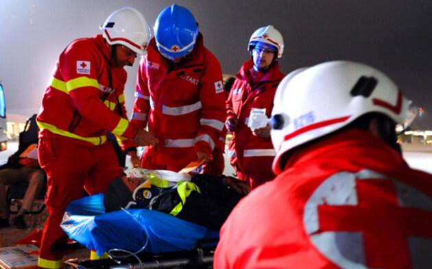 Rotes Kreuz Notarzt Einsatz Rettung