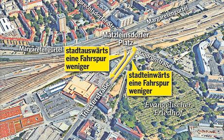 Mega-Baustelle am Matzleinsdorfer Platz