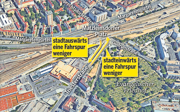 Baustelle Matzleinsdorfer Platz