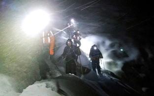 Bergsteiger bei Schneetreiben geborgen