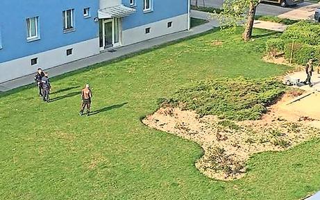 In Gemeindebau: Bombenalarm auf Spielplatz