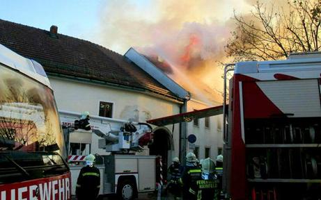 Brand auf Bauernhof im Bezirk Lilienfeld