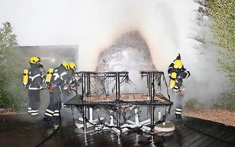 Brand in Supermarkt: Brandstiftung möglich
