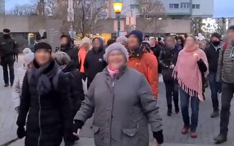 Hunderte Corona-Gegner marschierten bei Demo durch St. Pölten