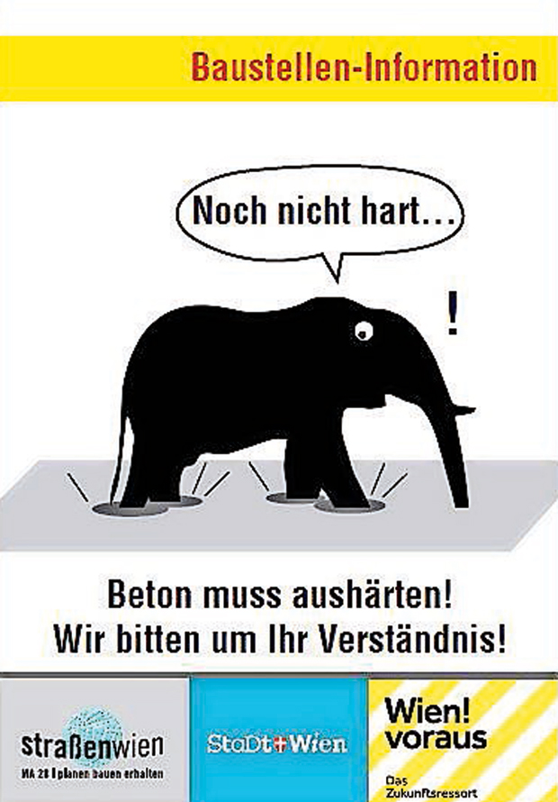 Elefant Baustelle