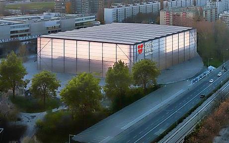 Erster Blick auf das neue Dusika-Stadion