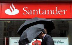 Leichter Gewinnrückgang bei Santander