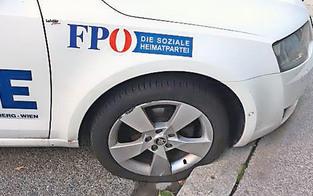 Wahlkampf brutal! Sogar Auto der FPÖ zerstört