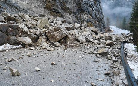 Drei Felsstürze durch Föhnsturm