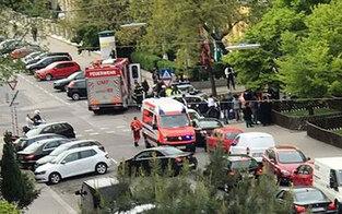 Säure-Attentat auf Wagen der Wiener Rettung