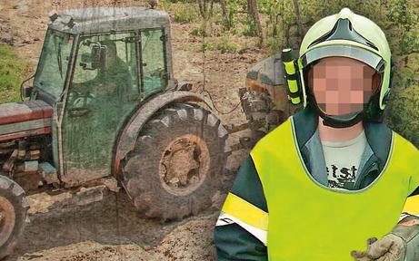 Feuerwehr-Bub geriet unter Traktor: tot