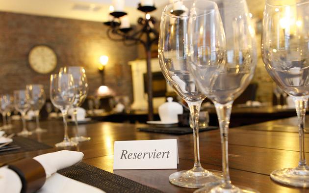 Gasthaus Restaurant Reservierung reserviert