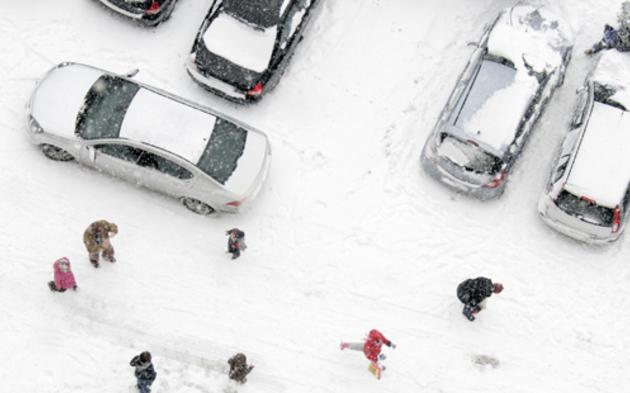 Parkplatz Schnee