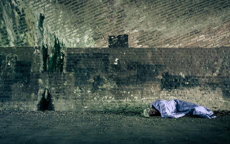 Obdachlose aus Europa stürmen Wien