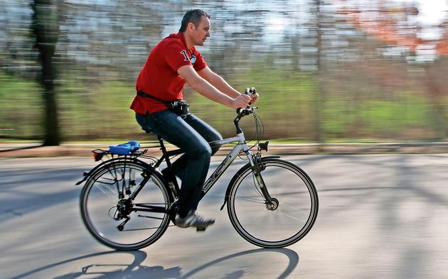 Radfahrer Prater Hauptallee