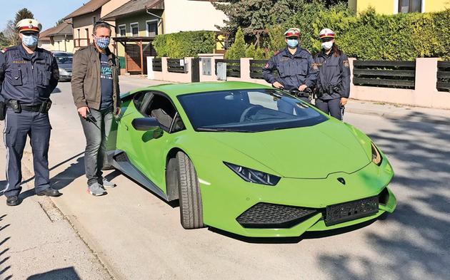 Gestohlener Lamborghini gefunden Gänserndorf