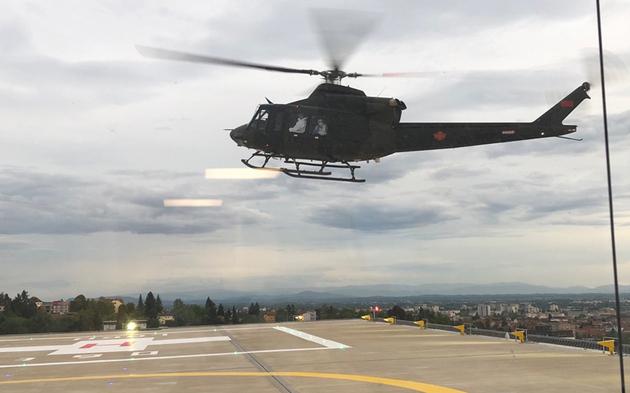 Helikopter Corona-Patient aus Montenegro wird in Graz behandelt