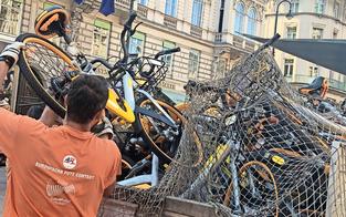 Eigentümer untergetaucht: Wien entsorgt oBikes