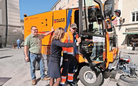 Neue Kehrmaschine für Salzburgs Altstadt