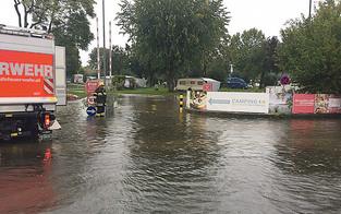 Dauerregen setzt Kärnten unter Wasser