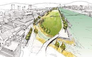 Donauinsel für Linz in Planung