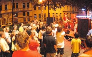 Top-Musiker am Gürtel Nightwalk