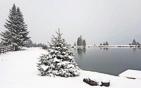 Erste Winter-Grüße in Tirol